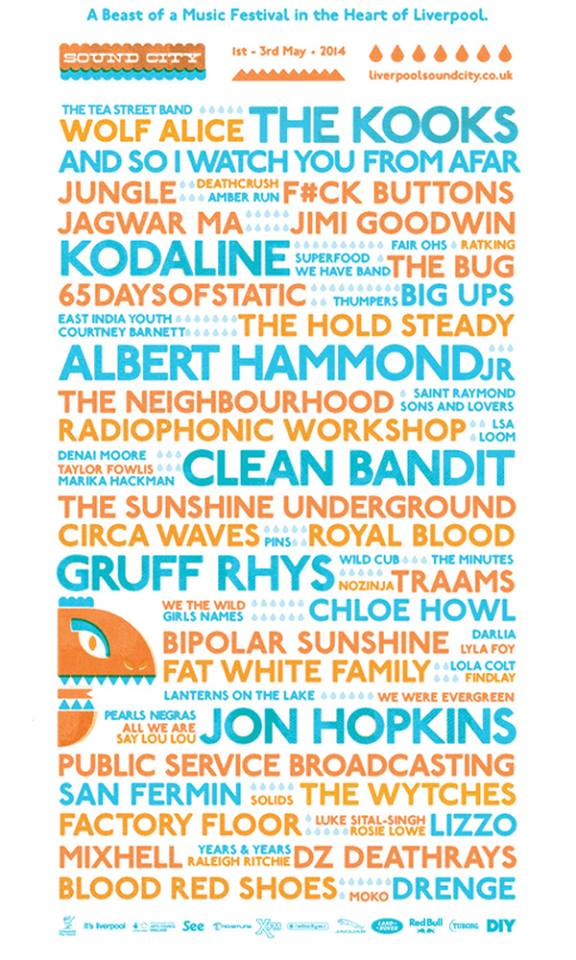 Liverpool Sound City 2014 Lineup