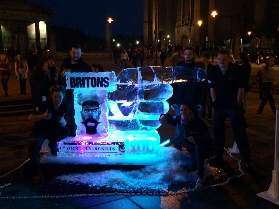 Light Night Liverpool Ice Sculpture