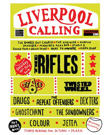Liverpool Calling Poster Line Up 2014