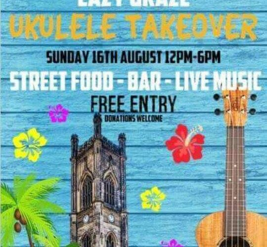 Lazy Graze Ukulele Takeover hosted by Hoffle Waffle at The Bombed Out Church