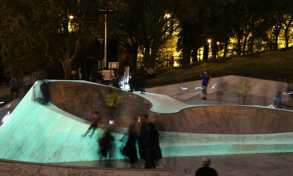 Glow in the dark skatepark