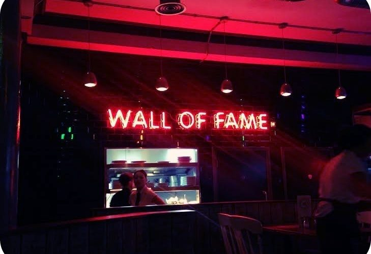 another brick in the burger wall wall of fame restaurant review liverpool noise. Black Bedroom Furniture Sets. Home Design Ideas