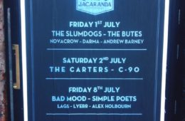 Darma, The Butes, Andrew Barney, Novacrow & The Slumdogs Live At The Jacaranda Friday 1st July; Review