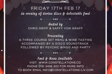 Disco & Dinner - A Brand New Pop-Up from Constellations 1