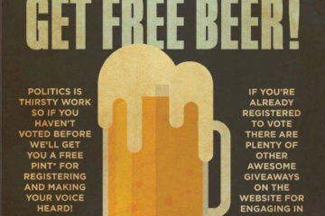 Vote this year get free beer