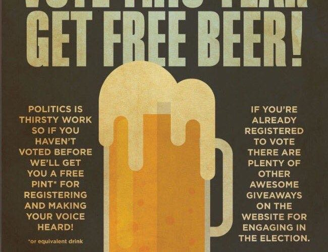 Constellations Are Giving Away A Free Beer For People Who Register To Vote