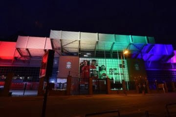 Liverpool's Iconic Buildings Light Up Rainbow Colours As Part of Liverpool Pride 1