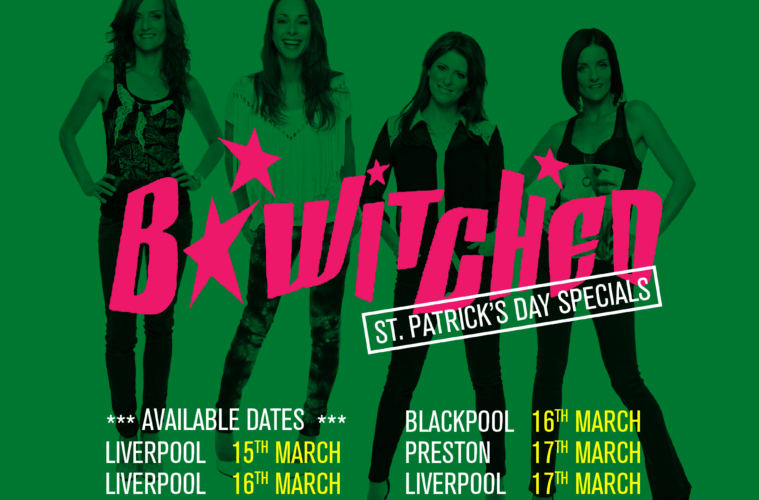 Bongo's Bingo Announce B*Witched For St Patrick's Day Special 3 Date Event