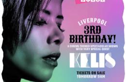 Bongo's Bingo 3rd birthday - with Kelis - artwork
