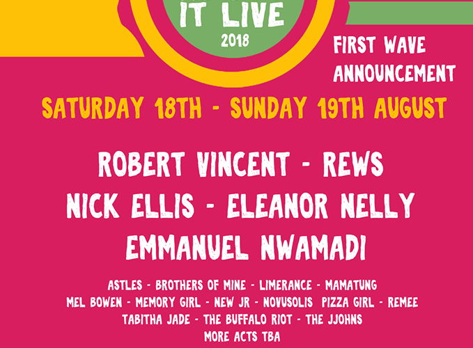 Shout About It Live Festival Returns for 2nd year - First acts announced 2