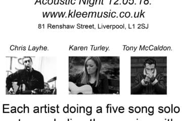 KLEE MUSIC ACOUSTIC NIGHT 12.05.18 POSTER
