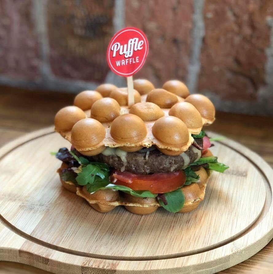 Puffle Waffle Burger