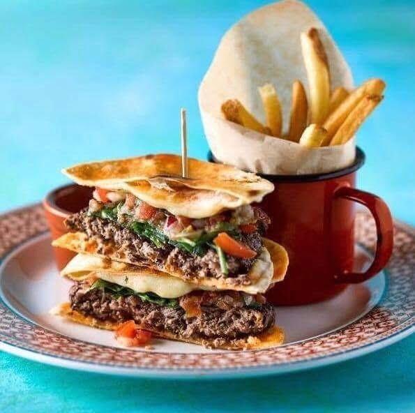 Revolution De Cuba Quesadilla Burger