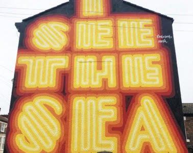 I See The Sea Street Art Ben Eine