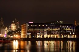 Royal Albert Dock Christmas Light Projections