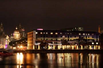 Royal Albert Dock Christmas Light Projections